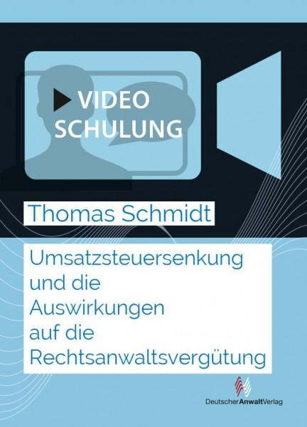 Videoaufzeichnung Webinar Umsatzsteuersenkung und die Auswirkungen auf die Rechtsanwaltsvergütung