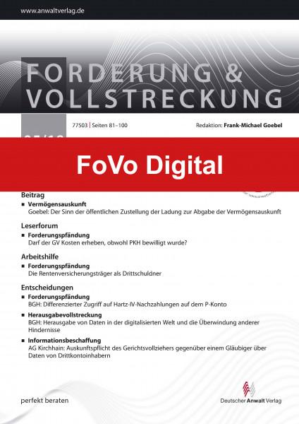 FoVo - Forderung und Vollstreckung Digital
