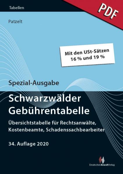 Spezial-Ausgabe Schwarzwälder Gebührentabelle (PDF)
