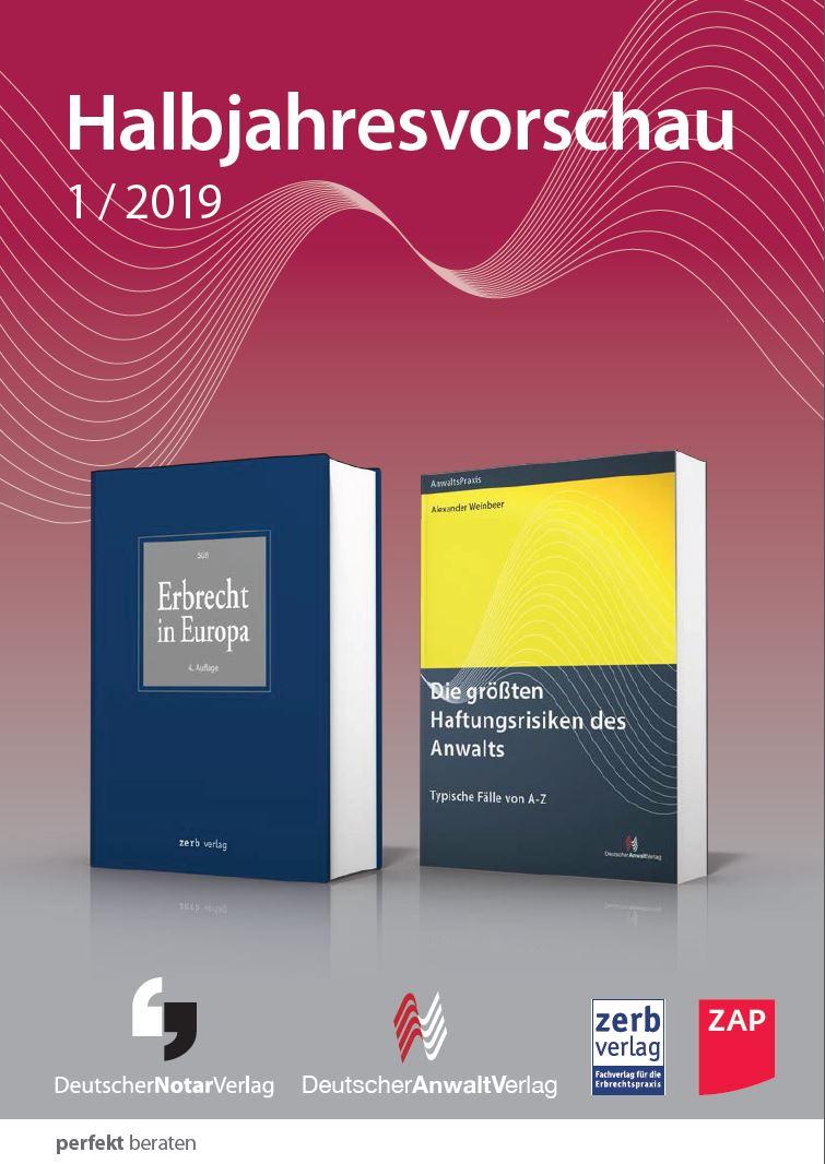 Buchhandelsvorschau Anwaltverlag, ZAP Verlag, Notarvlerag, zerb