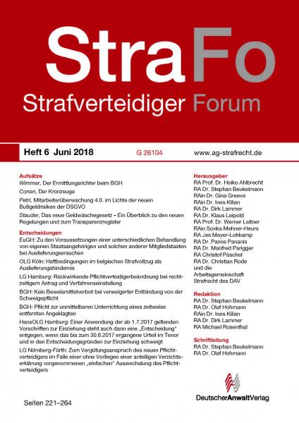 StraFo - StrafverteidigerForum