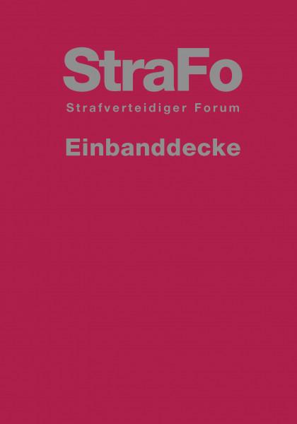 StraFo - StrafverteidigerForum Einbanddecke
